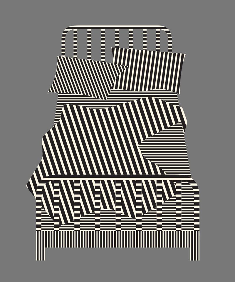 Olimpia Zagnoli, Sunday Morning, 2019, limited edition of 8 giclee prints on Somerset Velvet,  60×50 cm
