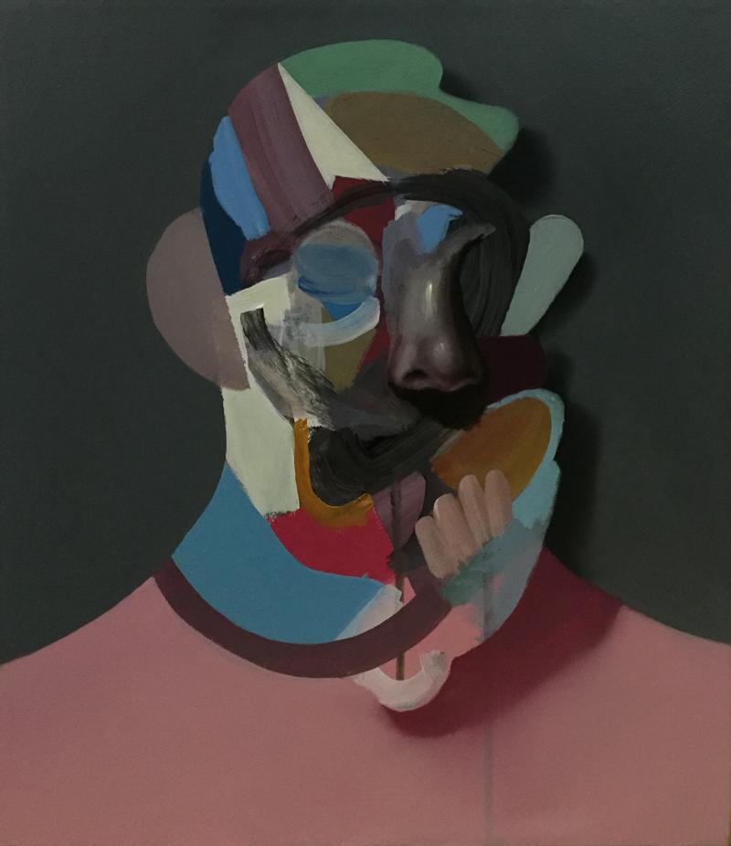 Giuliano Sale, Senza Titolo, 2019, acrilico su tela, 35×30 cm