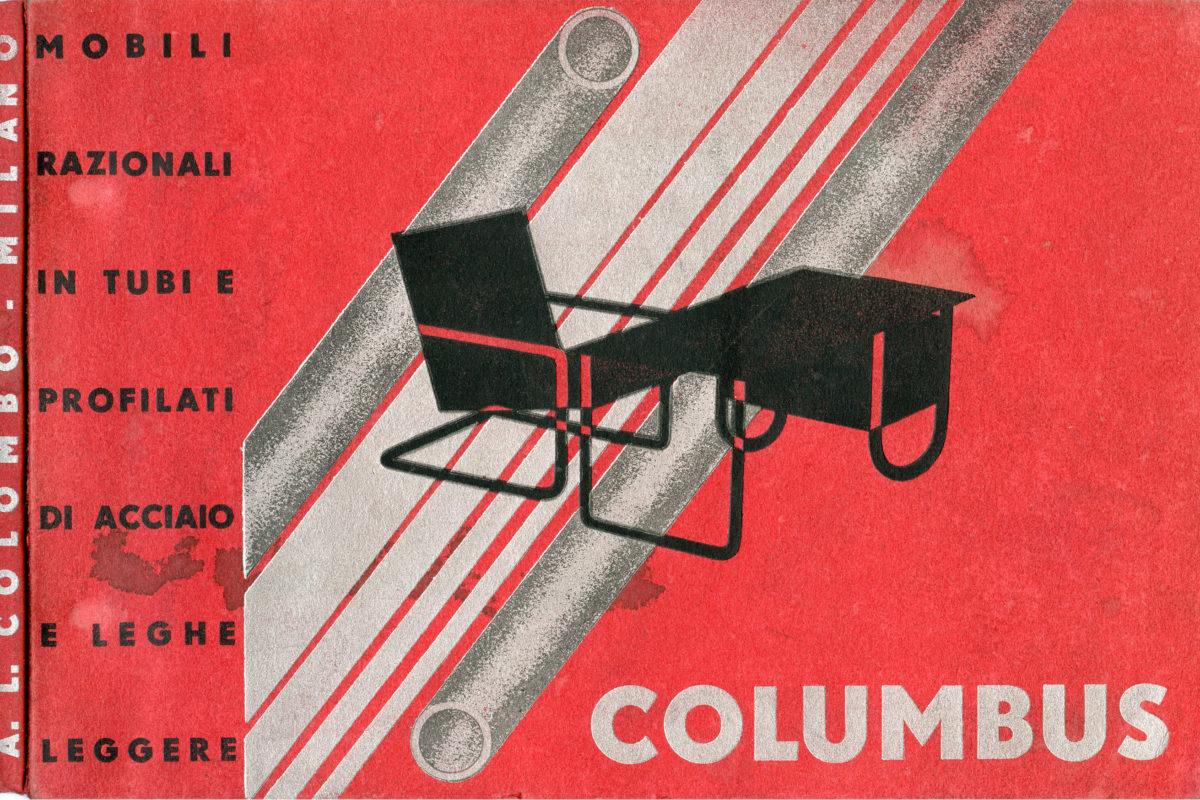 Dèpliant Pubblicitario Mobili Razionali In Tubi E Profilati Di Acciaio E Leghe Leggere Columbus, 1933
