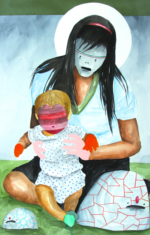 Carlos Donjuan, A Caminar, 2013, Watercolor On Paper, 76x51 Cm