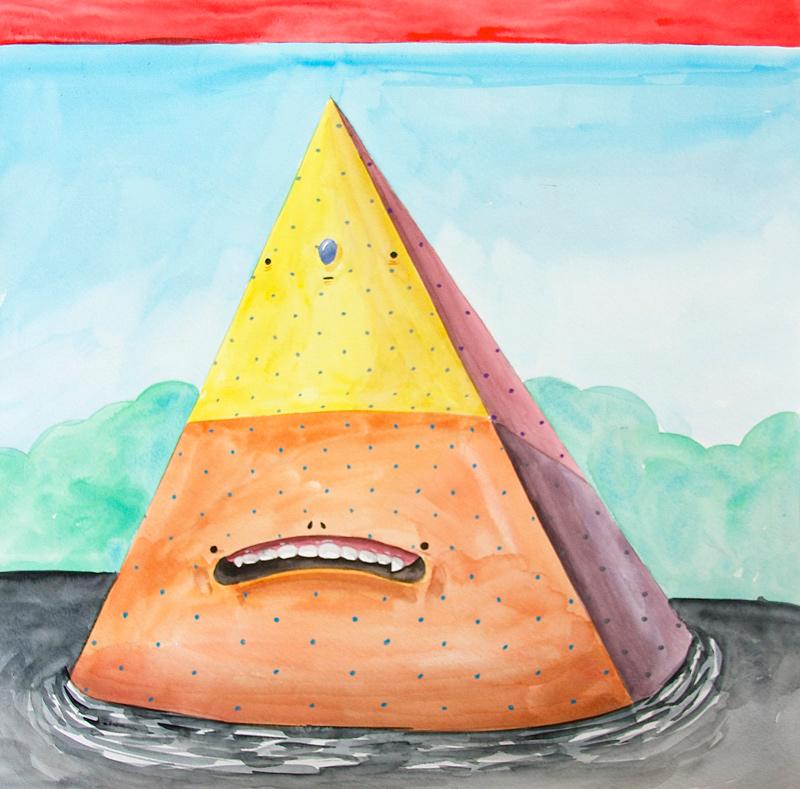 Carlos Donjuan, Babo, 2013, Watercolor On Paper, 45,7x45,7 Cm