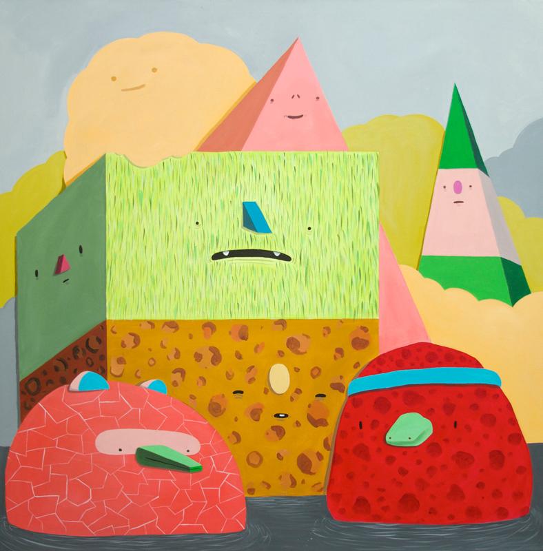 Carlos Donjuan, El Norte, 2014, Acrylic On Canvas, 122x122 Cm