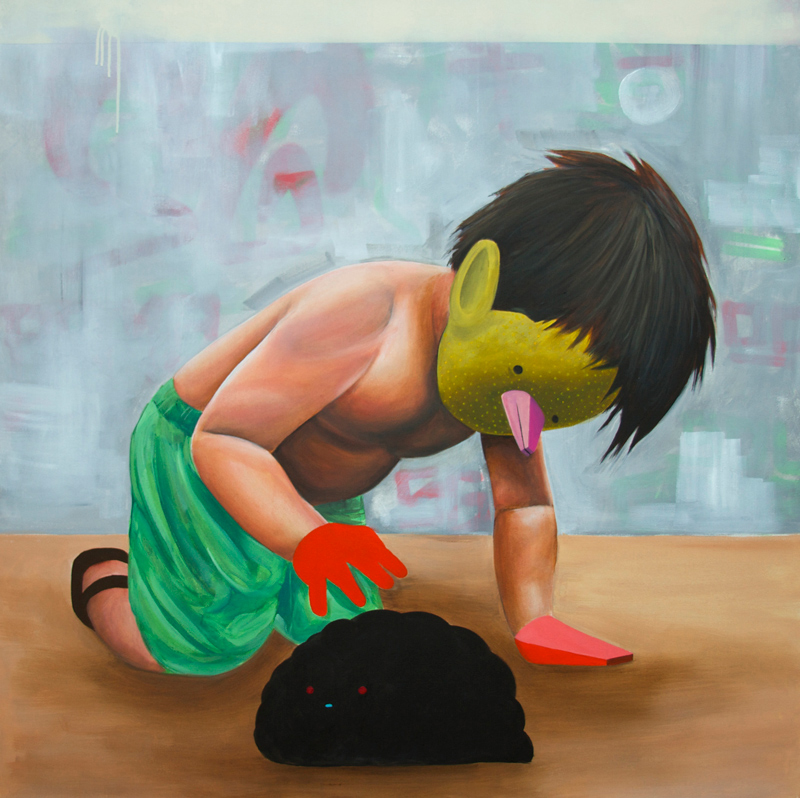 Carlos Donjuan, Mijo, 2013, Acrylic On Canvas, 122x122 Cm