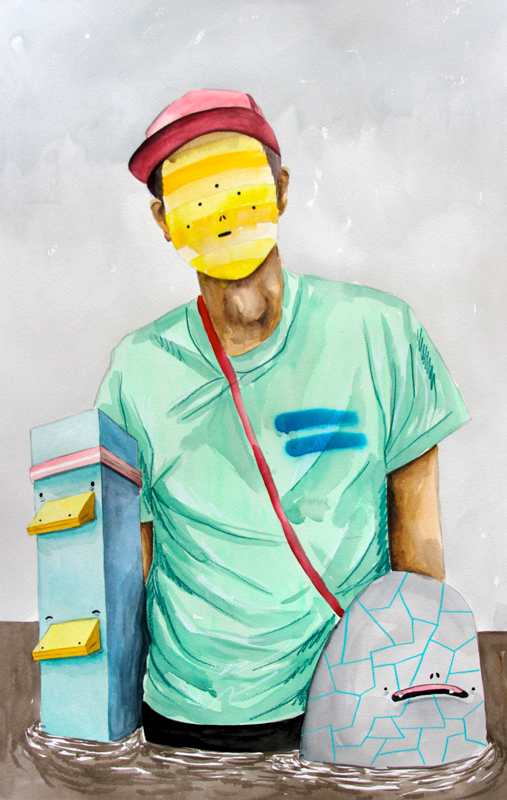 Carlos Donjuan, Nakamura, 2013, Watercolor On Paper, 76x51 Cm