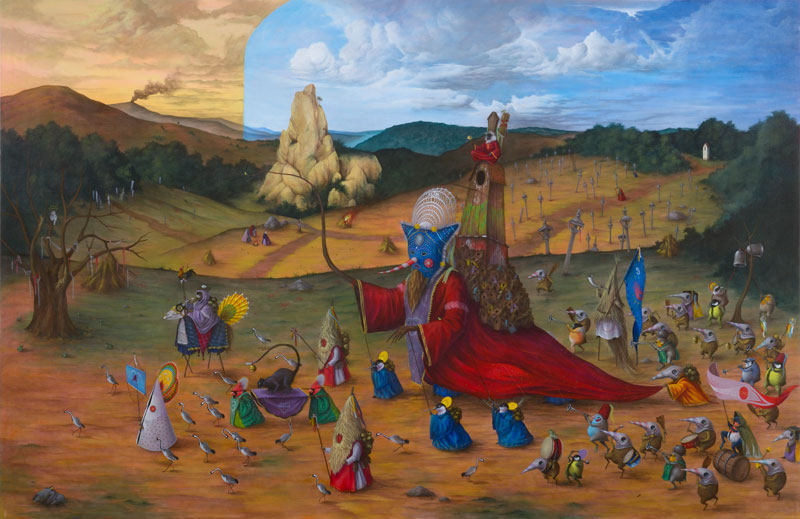 El Gato Chimney, El Gigante, 2013, Acrylic On Canvas, 130x200 Cm
