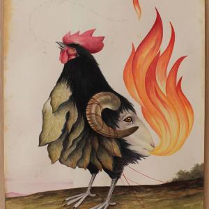 El Gato Chimney, Gallonero, 2014, Watercolors On Cotton Paper, 50x71 Cm