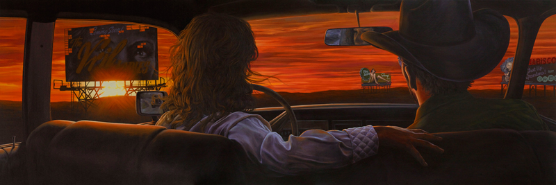Eric White, Coming soon, 2014, oil on canvas, 66x198 cm