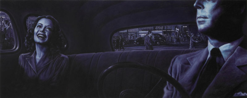 Eric White, 1938 Dodge Brothers Business CoupÇ-[D-8]-(Double-Indemnity), 2011, oil on canvas, 51x127 cm