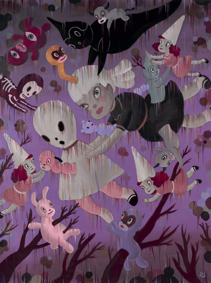 Gary Baseman, Genesis of Dream Reality, 2009, acrylic on canvas, 122x91 cm