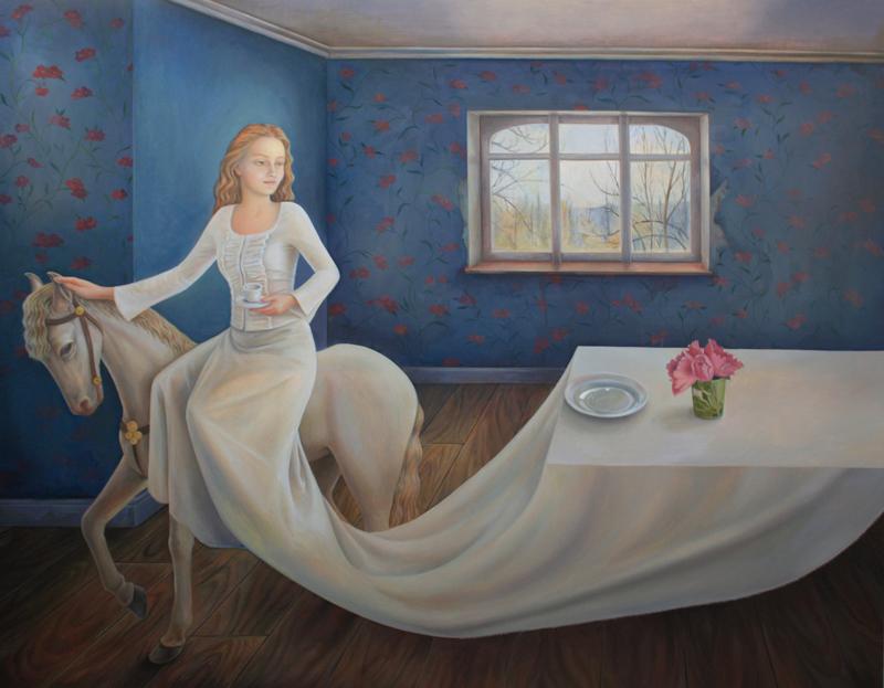 Ilaria Del Monte, La delizia del letargo, 2014, olio su tela, 150x120 cm
