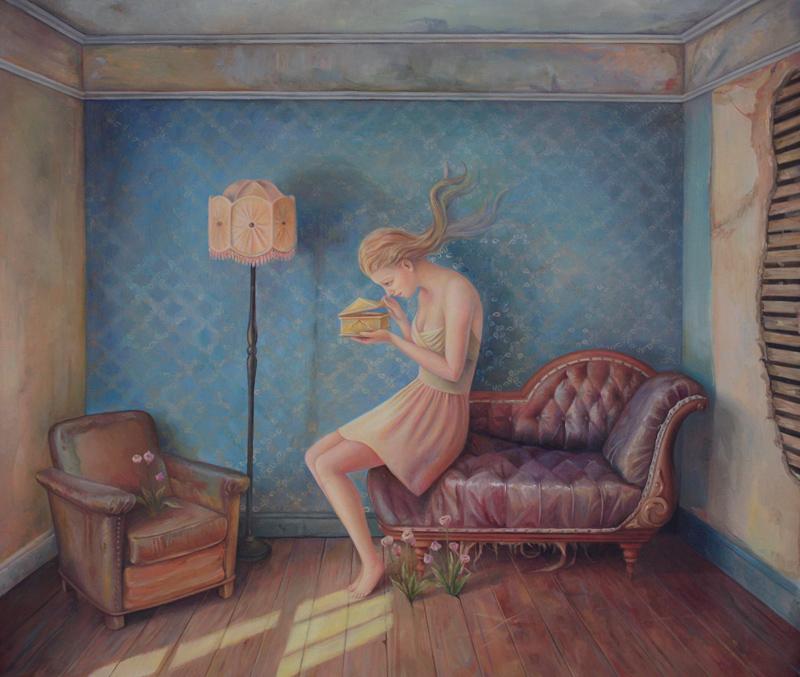 Ilaria Del Monte, La Quiete, 2014, olio su tela, 60x70 cm