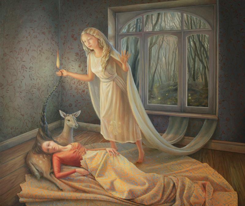 Ilaria Del Monte, Notturno, 2014, olio su tela, 60x70 cm