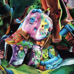 Marta Sesana, Cavallo Pazzo, 2014, Tempera On Paper, 50x70 Cm
