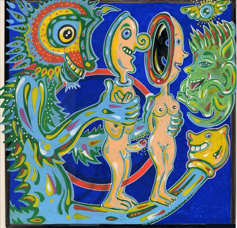 Matteo Guarnaccia, Concavo Convesso, 2006, Mixed Media On Paper, 28x35 Cm