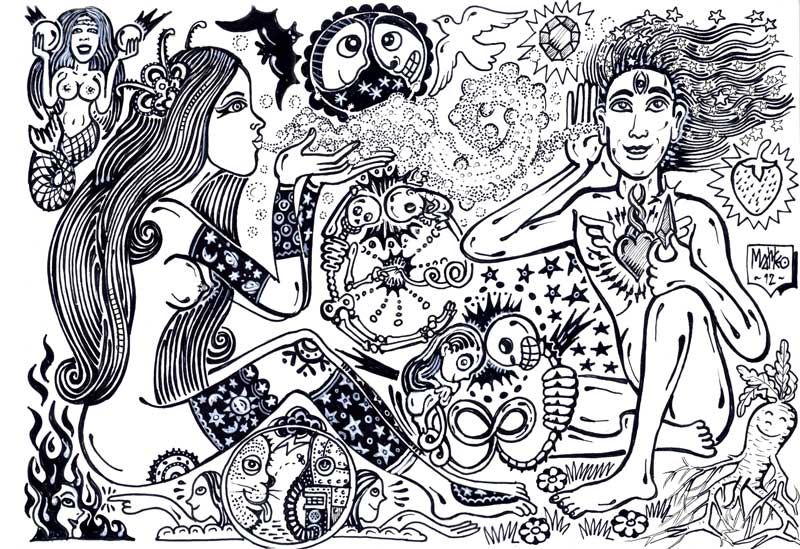 Matteo Guarnaccia, She Said, 2012, Ink On Paper, 24x33 Cm