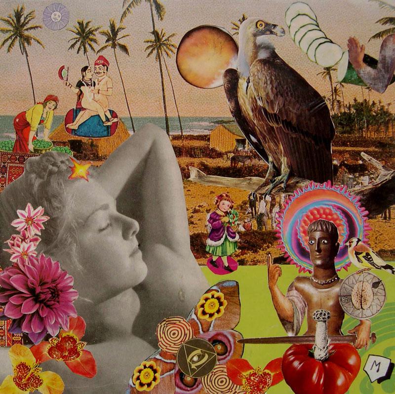 Matteo Guarnaccia, Technicolor Dream # 14, 1998, mixed media and collage, 29,5 x 29,5 cm