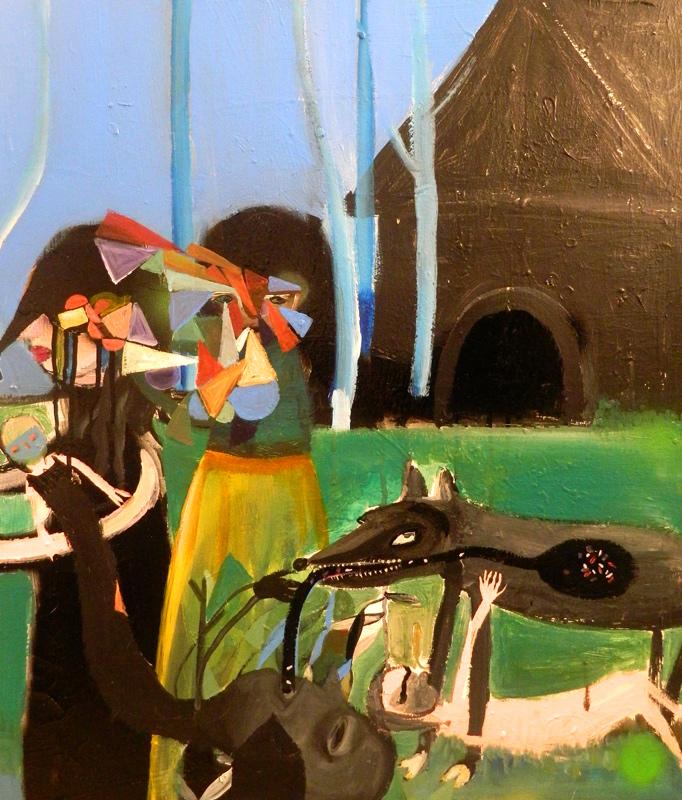 Silvia Argiolas, Attraverso i nostri discorsi, 2014, mixed media on canvas, 60x70 cm