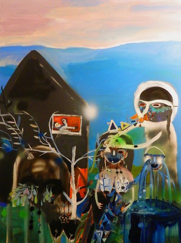 Silvia Argiolas, Resurrezione, 2014, oil and mixed media on canvas, 150x110 cm
