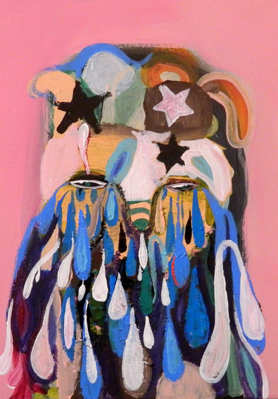 Silvia Argiolas, S, 2014, mixed media on canvas, 24x18 cm