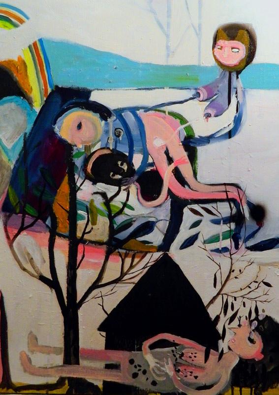 Silvia Argiolas, Un'ora che dura giorni, mixed media on canvas, 50x70 cm