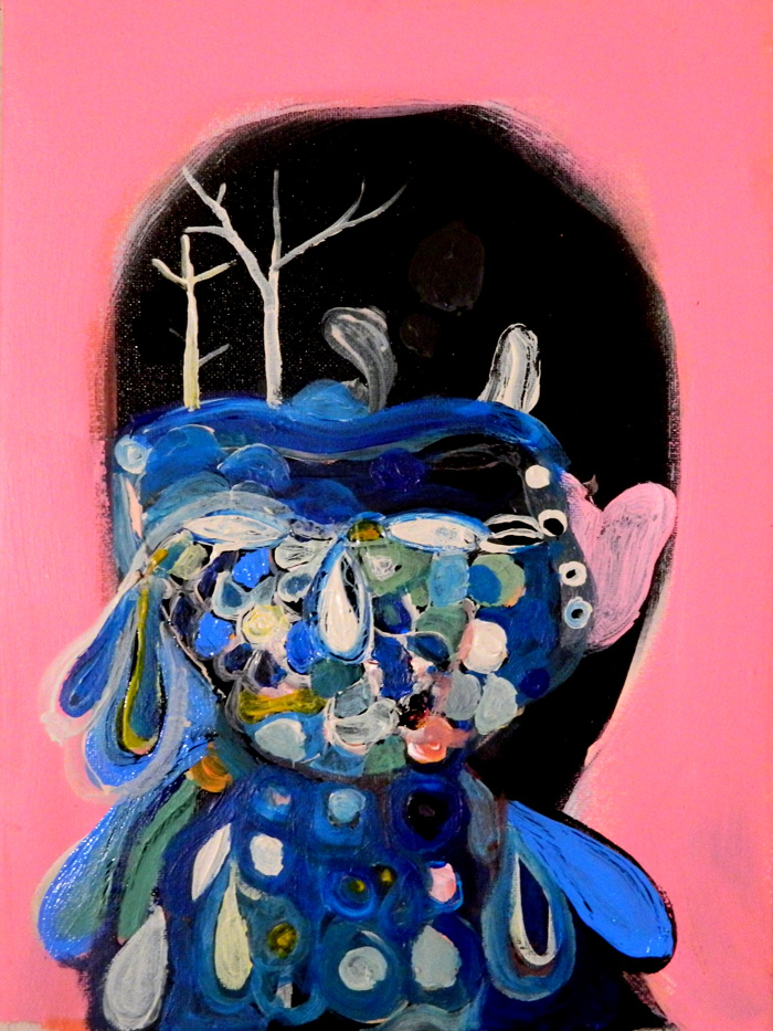 Silvia Argiolas, Blu, 2014, acrylic and enamel on canvas, 24x18 cm