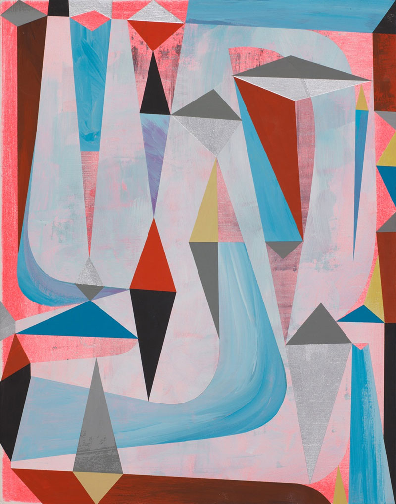 Tim Biskup, Fellow Stamper, 2012, acrylic on paper, 35,5 x 28 cm