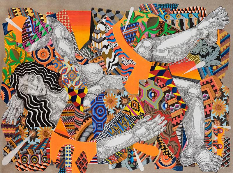 Zio Ziegler, The Spring Time, 2014, Mixed Media On Canvas, 152,4 X 213,4 Cm