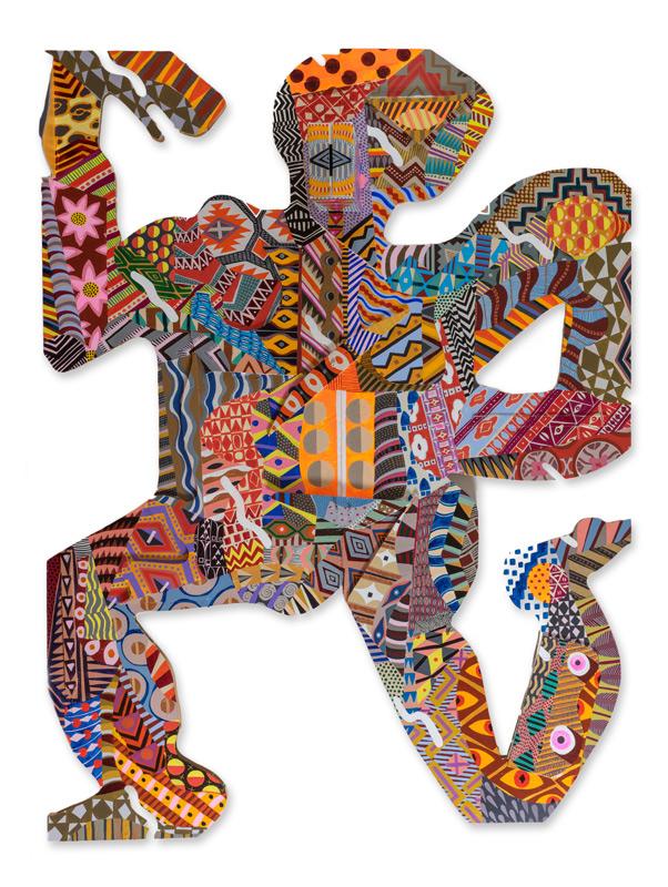 Zio Ziegler, Understanding Movement, 2014, Mixed Media On Panel, 198x158,5x45,7 Cm