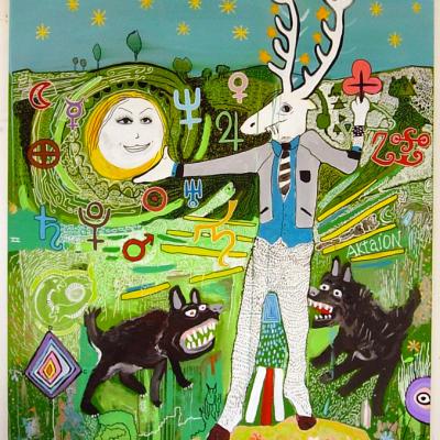 Aktaion, Acrilico Su Tela, 2008, Cm 200x150