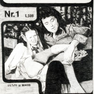 Senza Titolo, 2010, Matita Su Cartone,100x70 Cm
