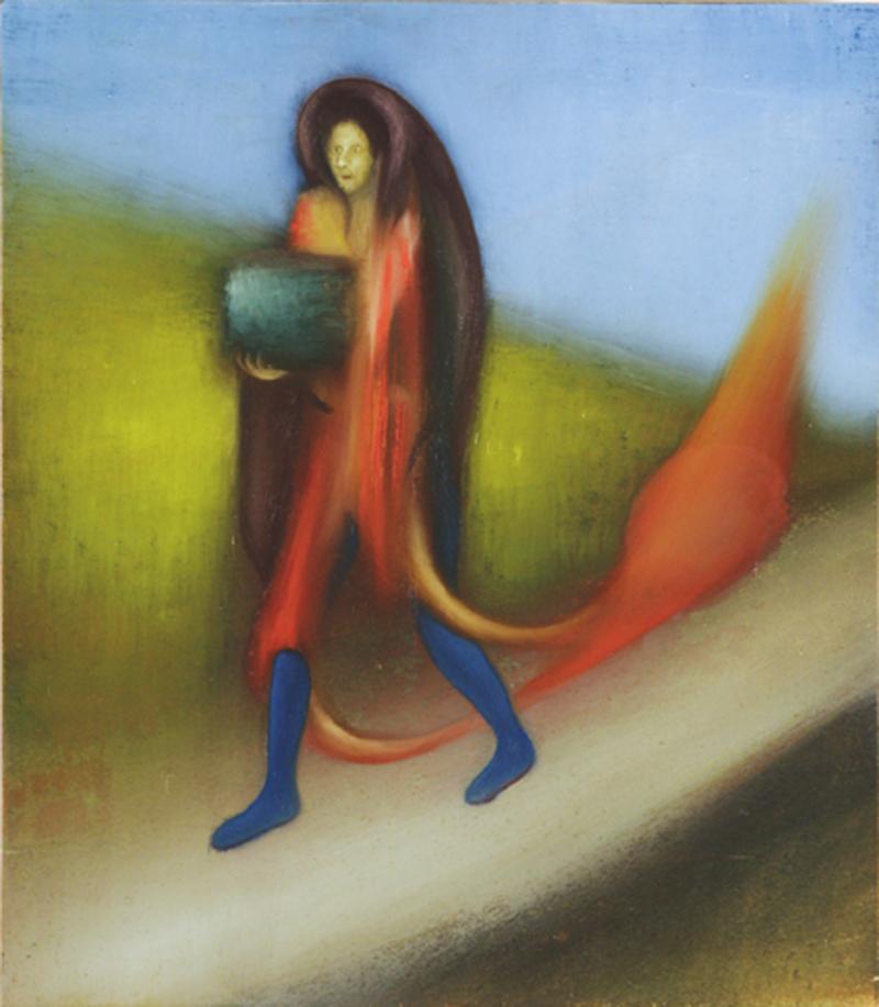 Giuliano Guatta, Tutto in un angolo, 2007, oil on board, 40x30 cm