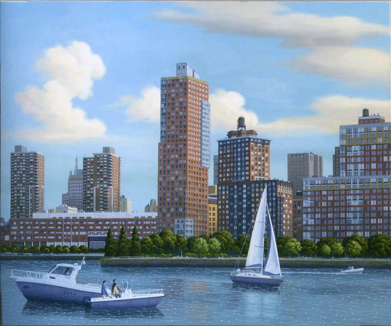 Aldo Damioli, Venezia-New York, 2010, Acrylic On Canvas, 80x100 Cm