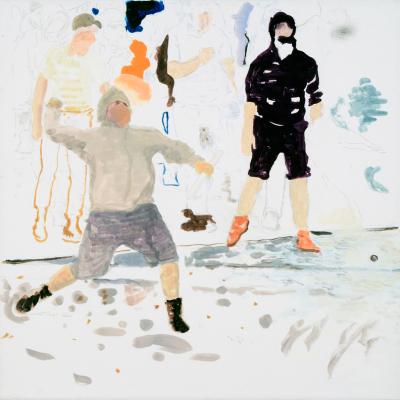 La Guerre Est Finie, 2009, Tempera Su Carta Intelata, 60x60 Cm