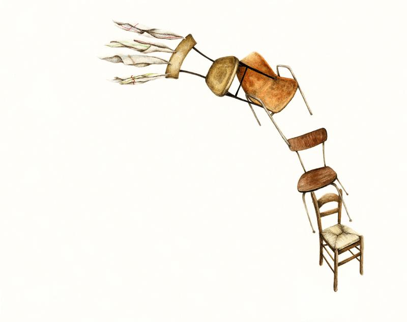 Cristina Pancini, All'esercizio Del Trasloco, 2012, Mixed Media On Paper, 22x28 Cm