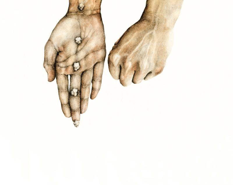 Cristina Pancini, E Fermati Stupito, 2012, Mixed Media On Paper, 31x39 Cm