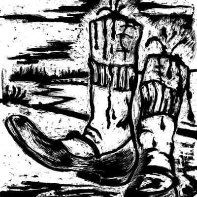Le Scarpette Rosse - Andersen, Acrilico Su Acetato, 20.5 X 29.5 Cm
