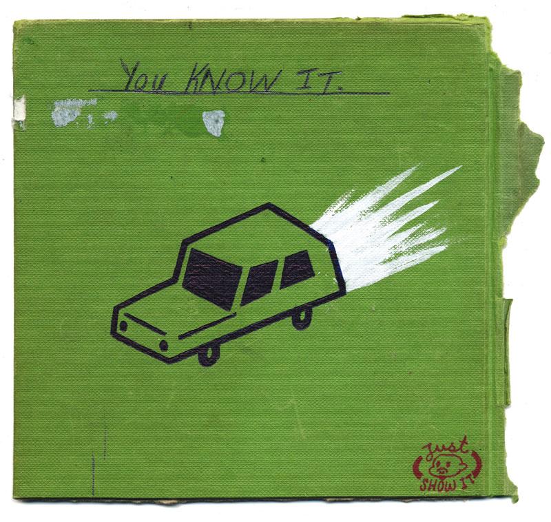 Gary Taxali, Freeway, 2008, Mixed Media On Paper, 35x35 Cm