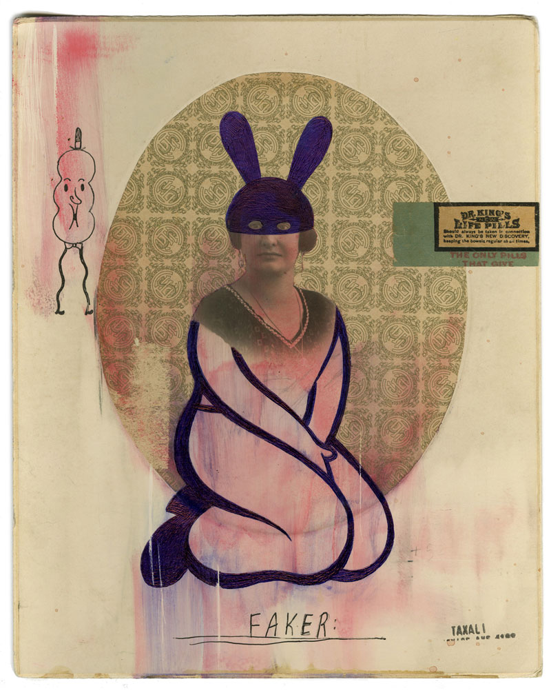 Gary Taxali, Faker, 2009, Mixed Media On Paper, 29x23 Cm