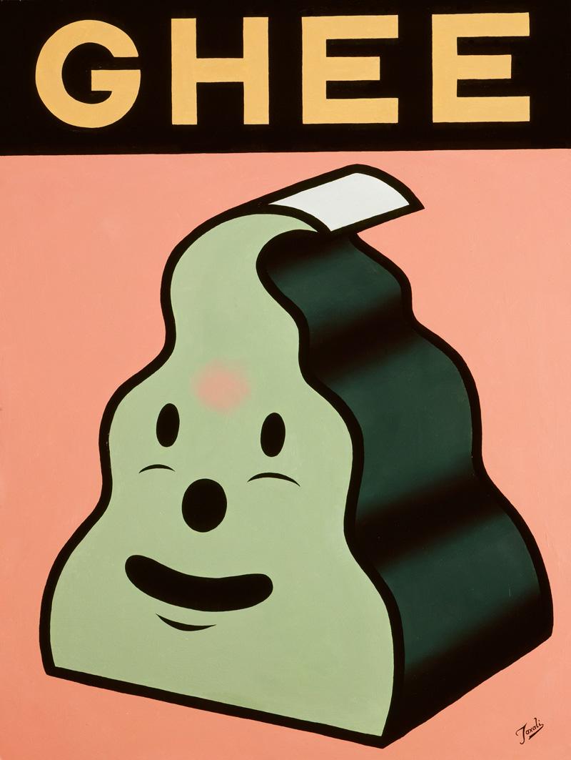 Gary Taxali, Ghee, 2006, Oil On Board, 81x61 Cm