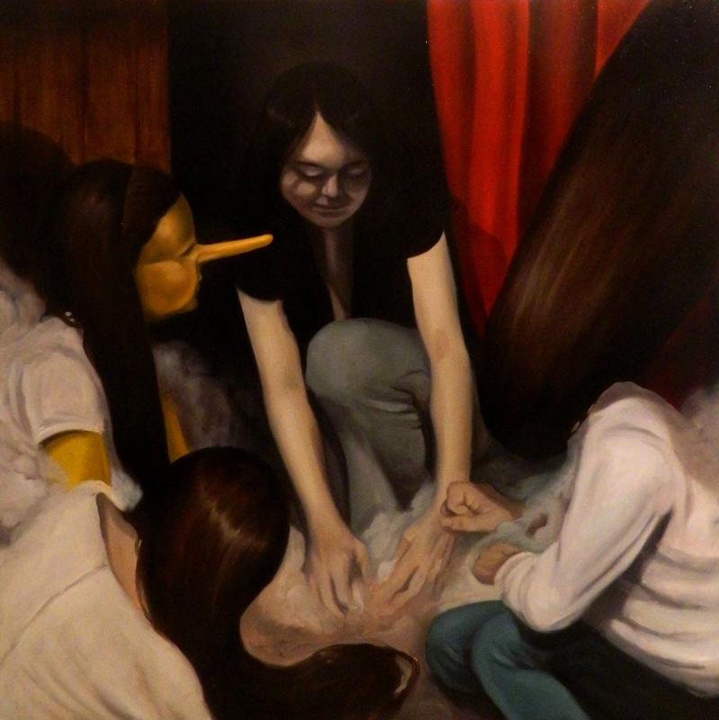 Giuliano Sale, Mother Superior, 2013, oil on canvas, 80x80 cm