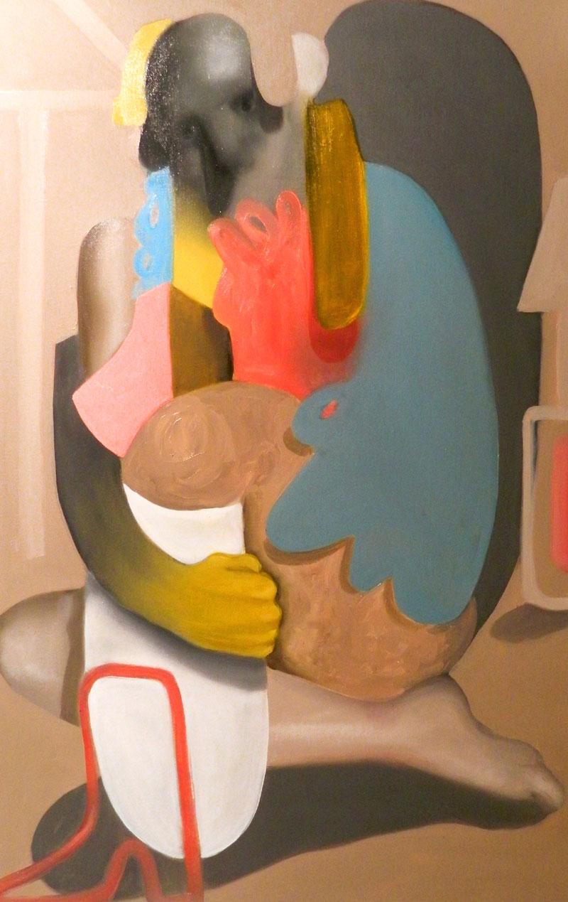 Giuliano Sale, Problem Child 2, 2016, oil on canvas, 55×85 cm