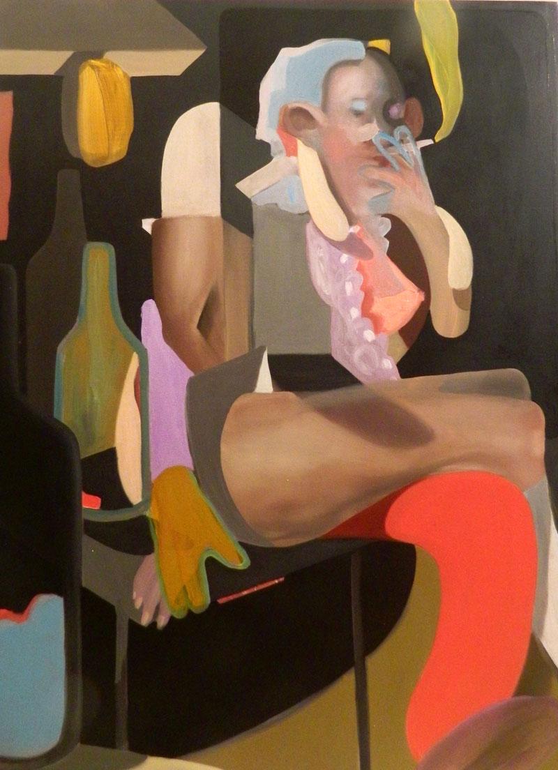 Giuliano Sale, Queen of the pub, 2016, oil on canvas, 120×90 cm