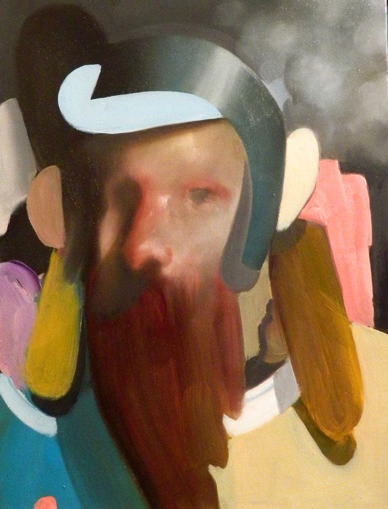 Giuliano Sale, Untitled (saint-sailor) 2, 2016, oil on canvas, 30×40 cm