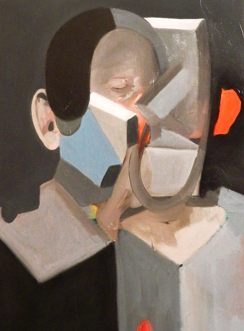 Giuliano Sale, Untitled (with kiss), 2015, oil on canvas, 30×40 cm