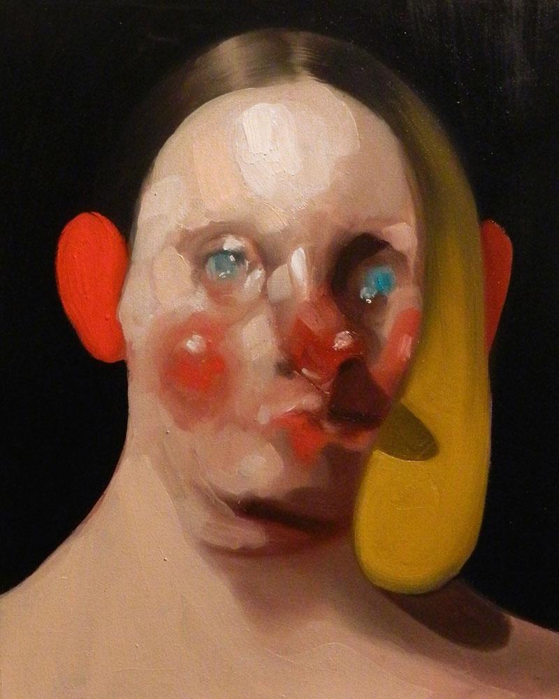 Giuliano Sale, Wine Lady 7, 2015, oil on canvas, 24×30 cm