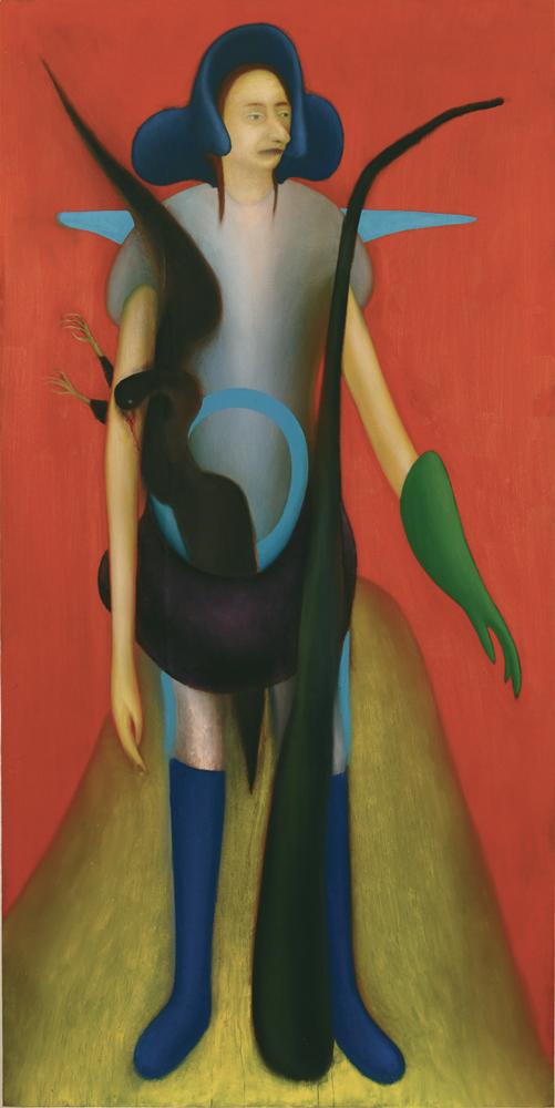 Giuliano Guatta, La fine, 2010, oil on board, 200x100 cm