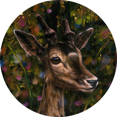 Heiko Müller, Deer, 2013, Oil On Canvas, 40cm