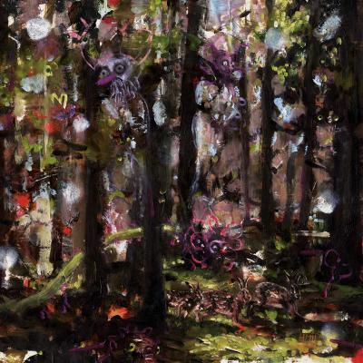 Heiko Müller, Flight, 2011, Oil On Paper, 30x30 Cm