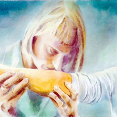 Nase, 2007 (60x80) Aquacrylic Su Tela