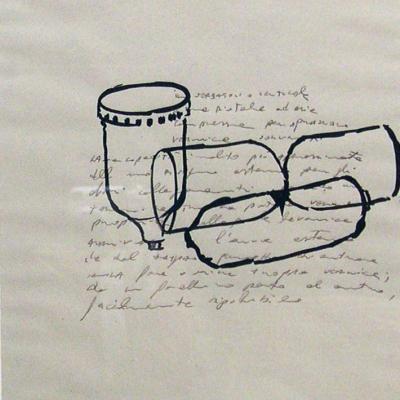 Disegni, 1990, Acquarello E Matita Su Carta, Cm 37,5x28,5,-4